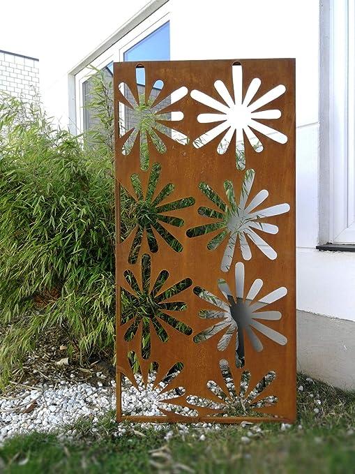 Zen Man - Valla para jardín (Chapa de Acero, 1 mm, 150 x 75 cm): Amazon.es: Jardín