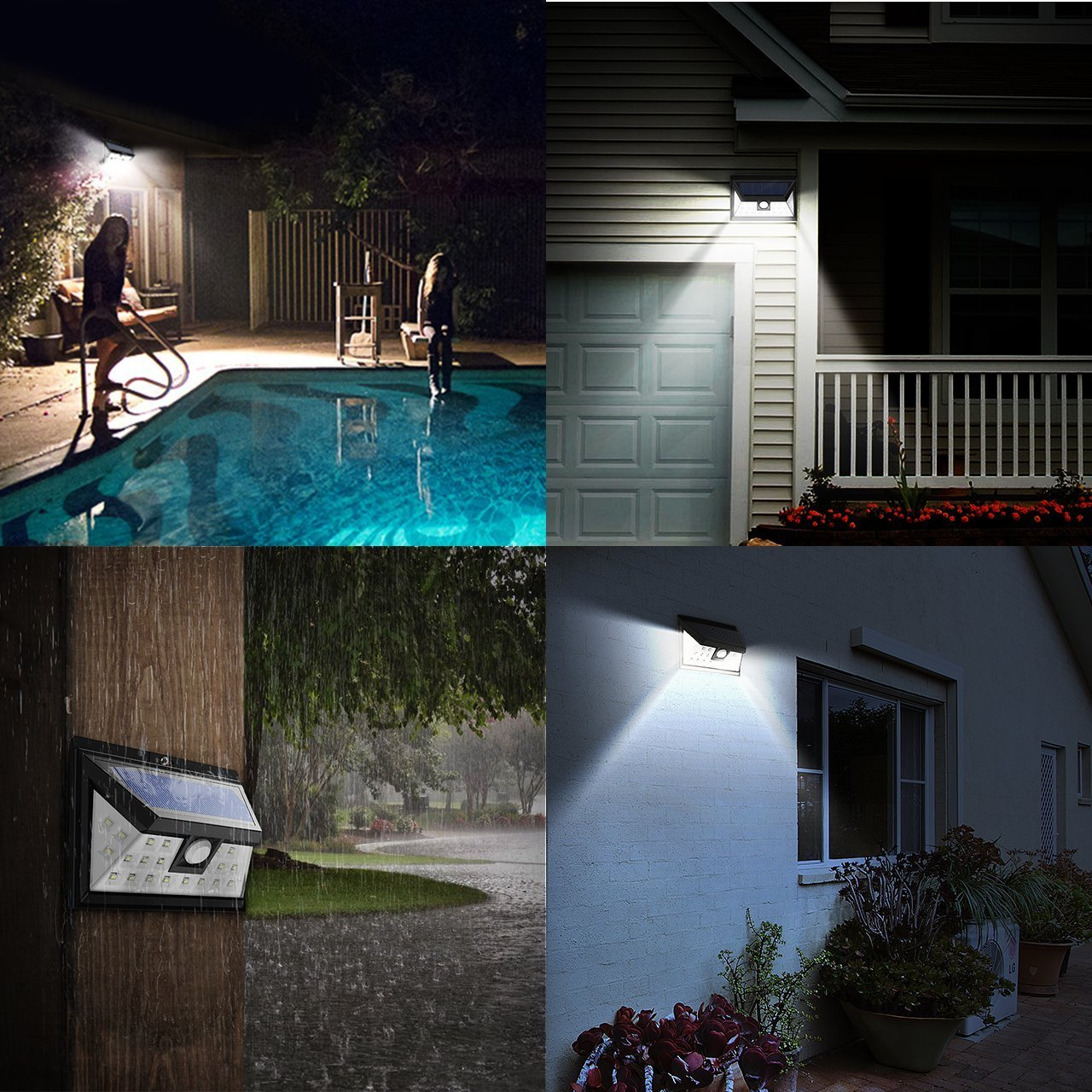 Solar Motion Sensor Security Lights, Mpow 24 LED Solar Powered Light ...