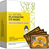 Oogmasker Collageen, All Natural Under Eye Patch & Mask (18 pairs) - Hydrogel Gel Pads for Dark Circles, Puffy Eyes and…