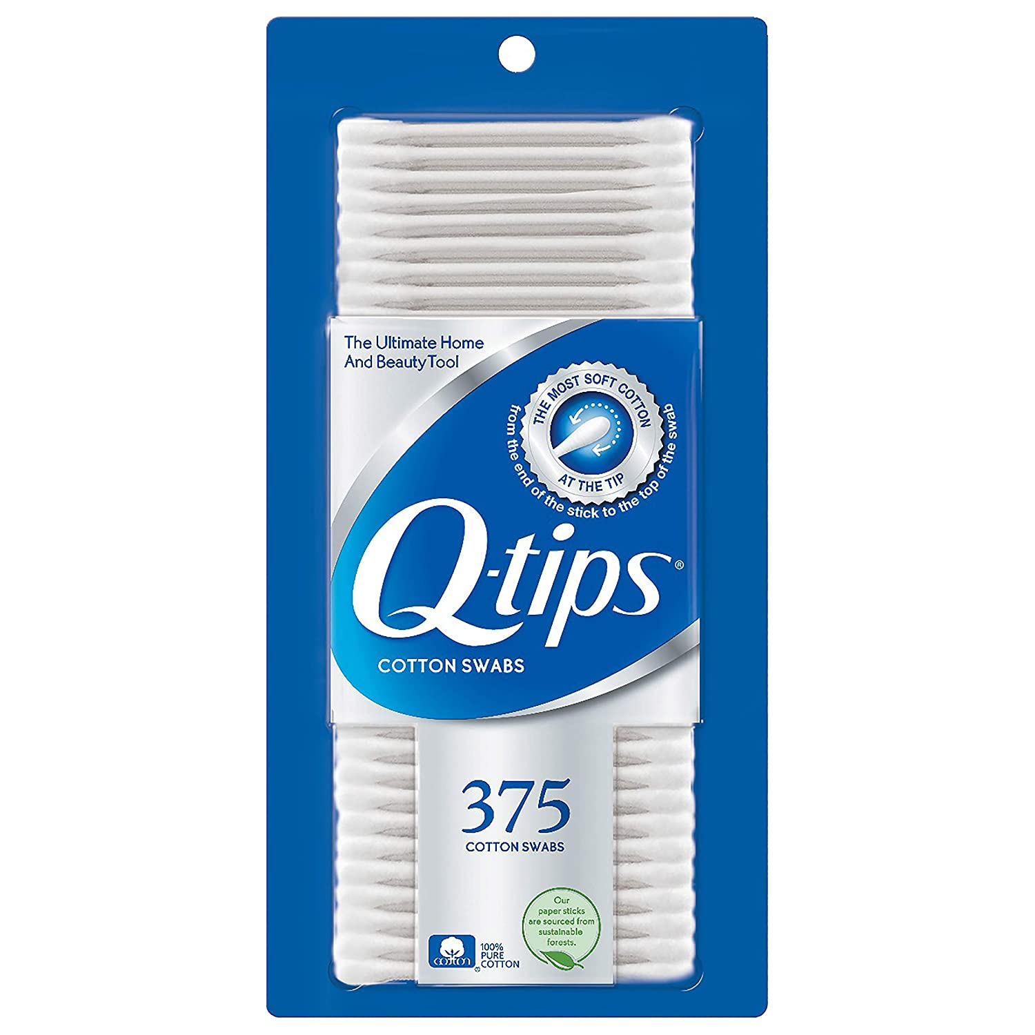 Q-Tips Cotton Swabs 375-Count by Q-Tips