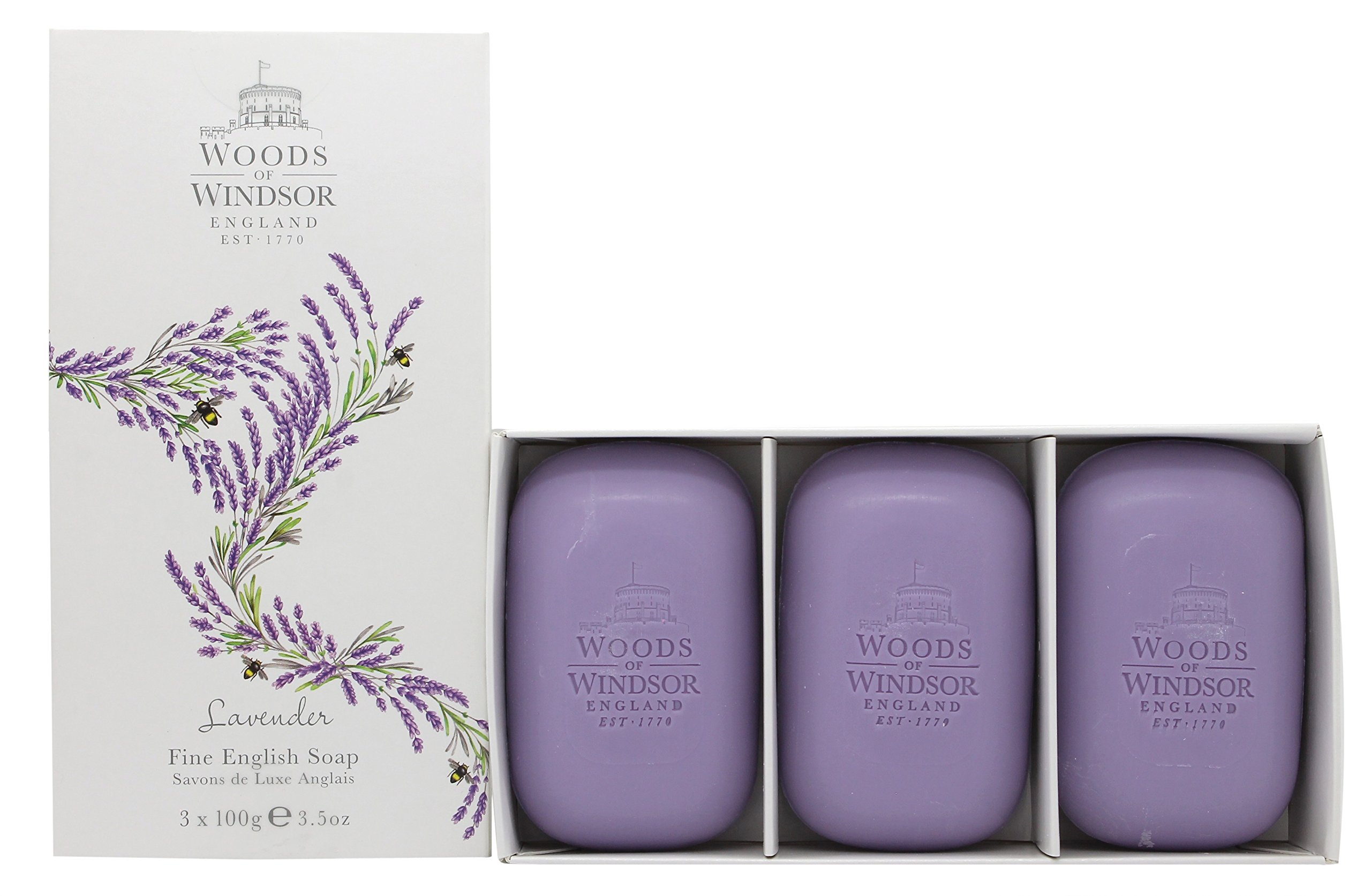 Woods of Windsor Lavender Fine English Soap (Box of 3) 3.5ozea Bars