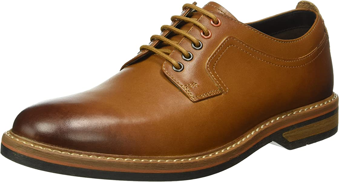 f6712b02f Clarks Pitney Walk - Cognac Leather (Brown) Mens Shoes 10 US  Amazon ...