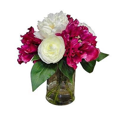 Amazon ella and lulu silk flower one size cream fuschia ella and lulu silk flower one size cream fuschia mightylinksfo