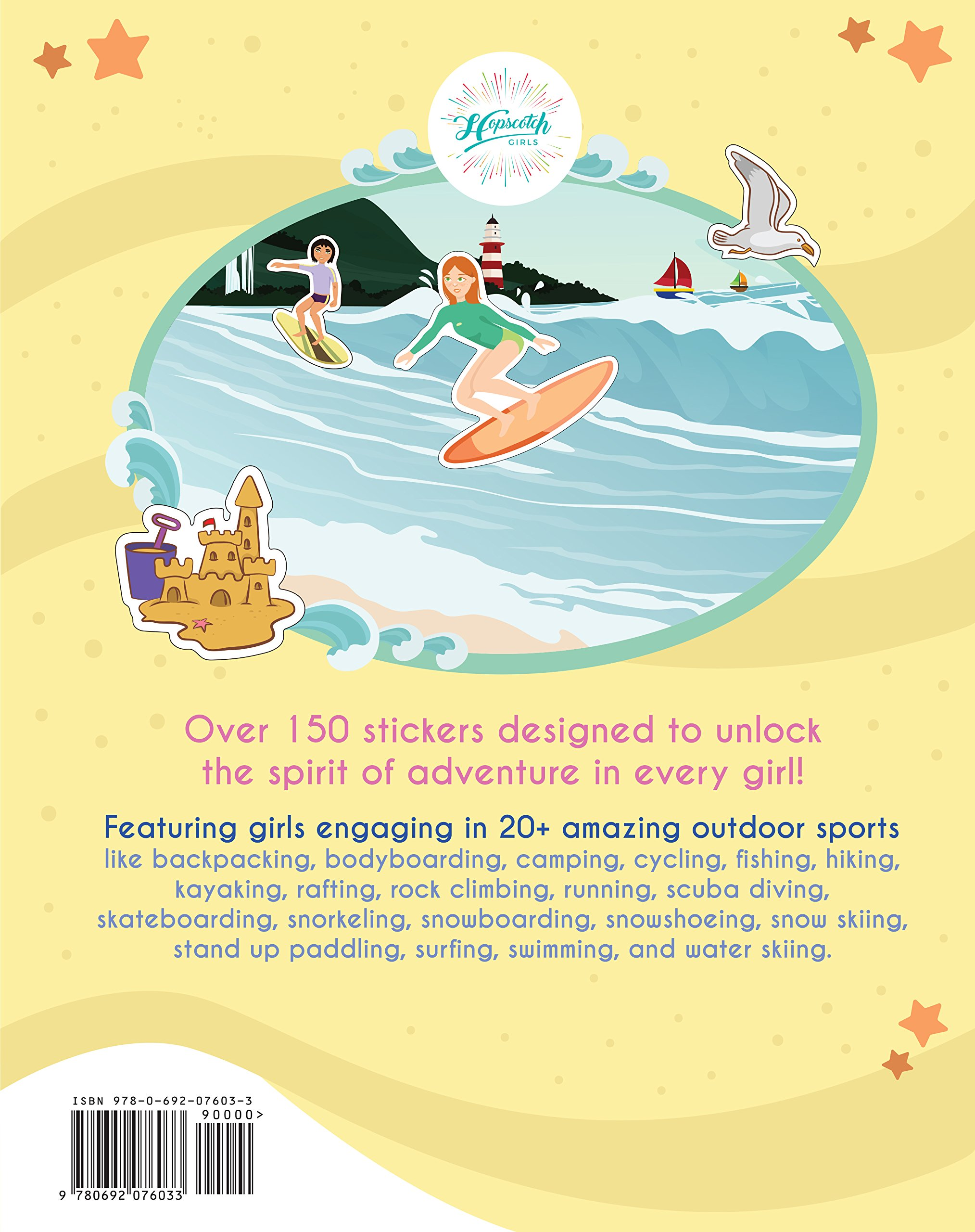 Confidence-Building Sticker Book for Girls Ages 4-8 - Outdoor Sports Sticker Adventure by Hopscotch Girls (Image #2)
