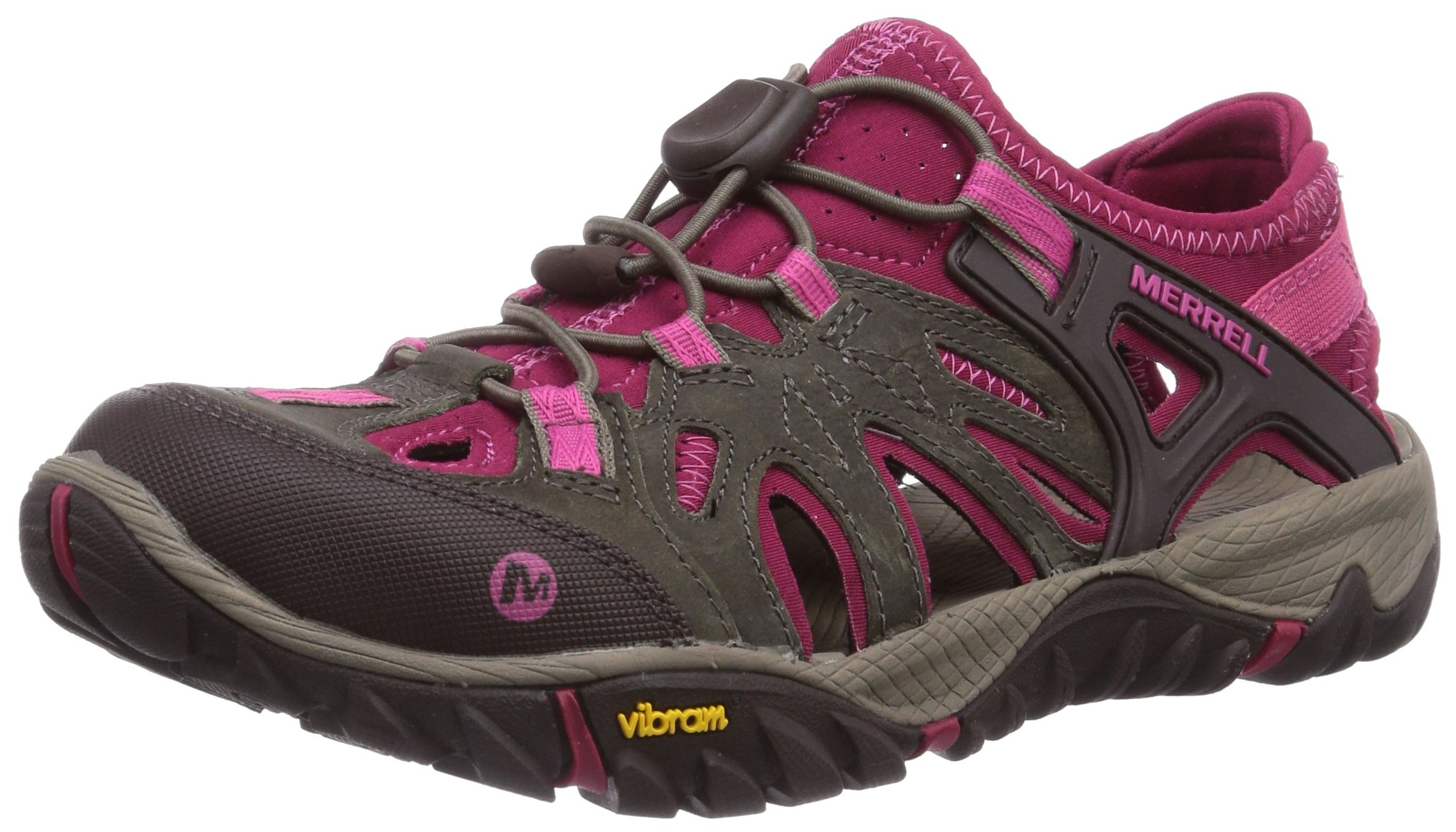 Merrell Women's All Out Blaze Sieve Water Shoe, Boulder/Fuchsia, 6.5 M US by Merrell