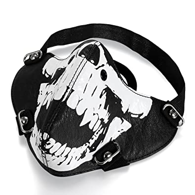 JewelryWe Disfraces para Halloween, Mascara de Craneo Esqueleto Mascara de Terror, Mascara de Moto