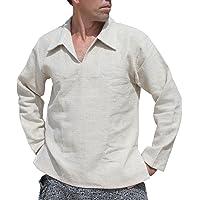 Raan Pah Muang RaanPahMuang Hemp Euro Collar Long Sleeve Shirt Natural Quality Yeap Hai