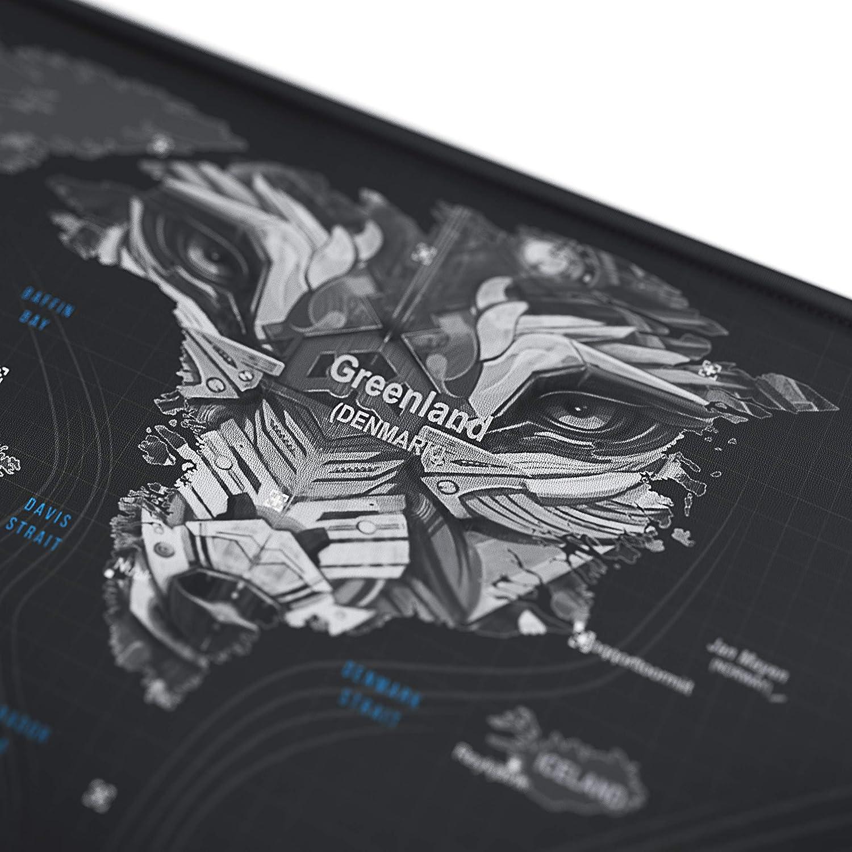 Speed Gaming Mousepad Mouse Pad para Ordenador XXL Alfombrilla para rat/ón 900 x 400 mm Base para Mesa Grandes Dimensiones Dise/ño: Epsilon TITANWOLF