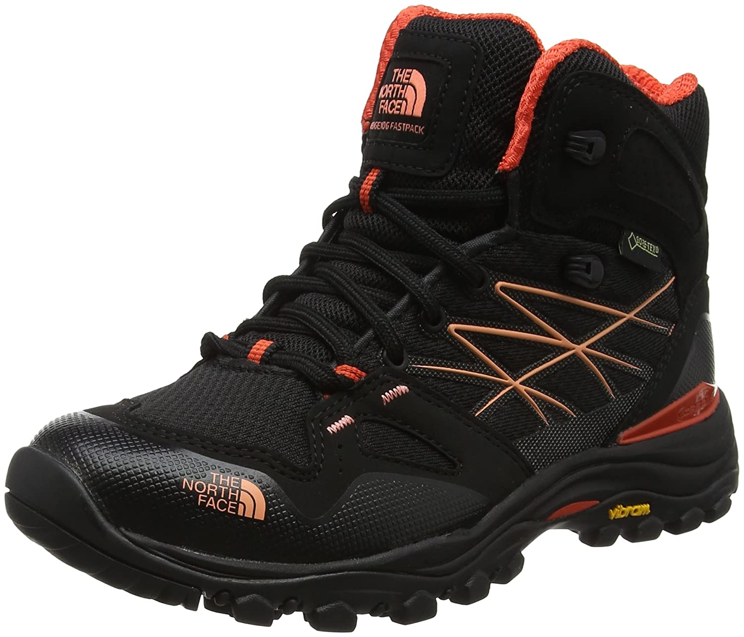 Noir (Tnf noir Fire Brick rouge) 36.5 EU The North Face Hedgehog Fastpack, Chaussures de Randonnée Basses Femme