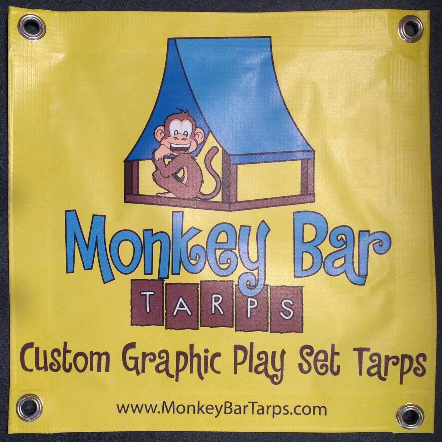 Custom Sized Retro Flower Replacement Tarp  Canopy for Playset: Up to 80 Sq Ft Tarp Size