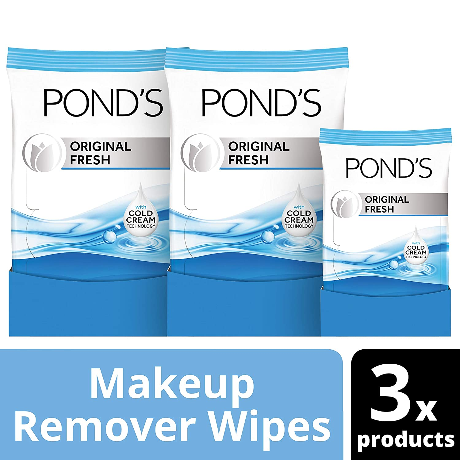 Pond's MoistureClean Makeup Remover Wipes, Original Fresh, 71 ct