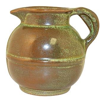 Amazon Frankoma Pottery 1942 Art Deco Prairie Green Creamer No