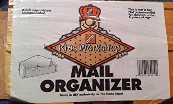 Home Depot Kids Workshop Mail Organizer Wood Kit