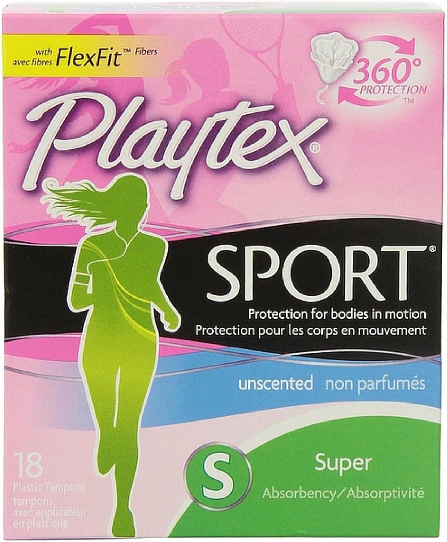 Playtex Sport Tampons - Super - 18 ct (Pack of 3)