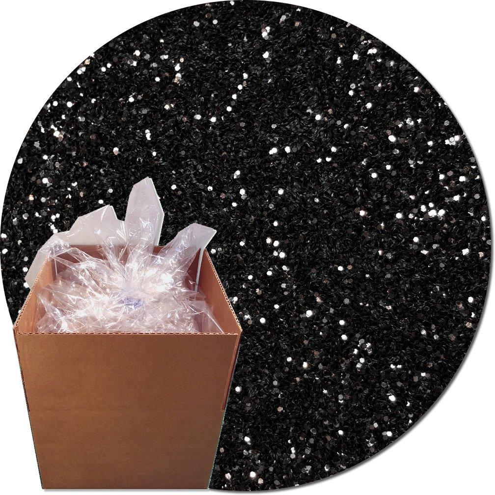 Glitter My World! Craft Glitter: 25lb Box: Black Glimmer