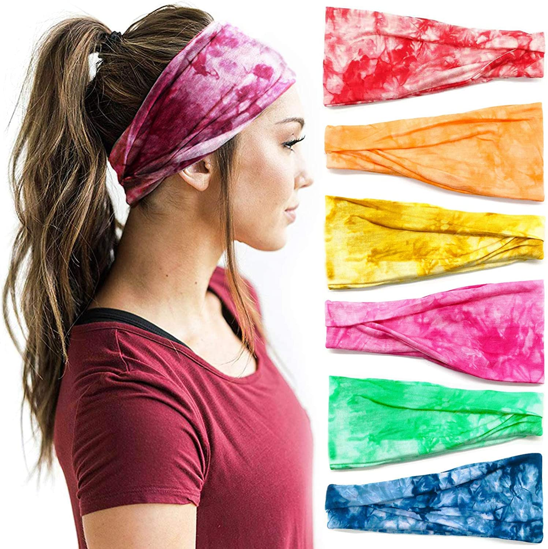 DRESHOW 6 St/ück Damen Yoga Laufen Stirnband Sport Trainieren Haarb/änder Nettes Haarzubeh/ör
