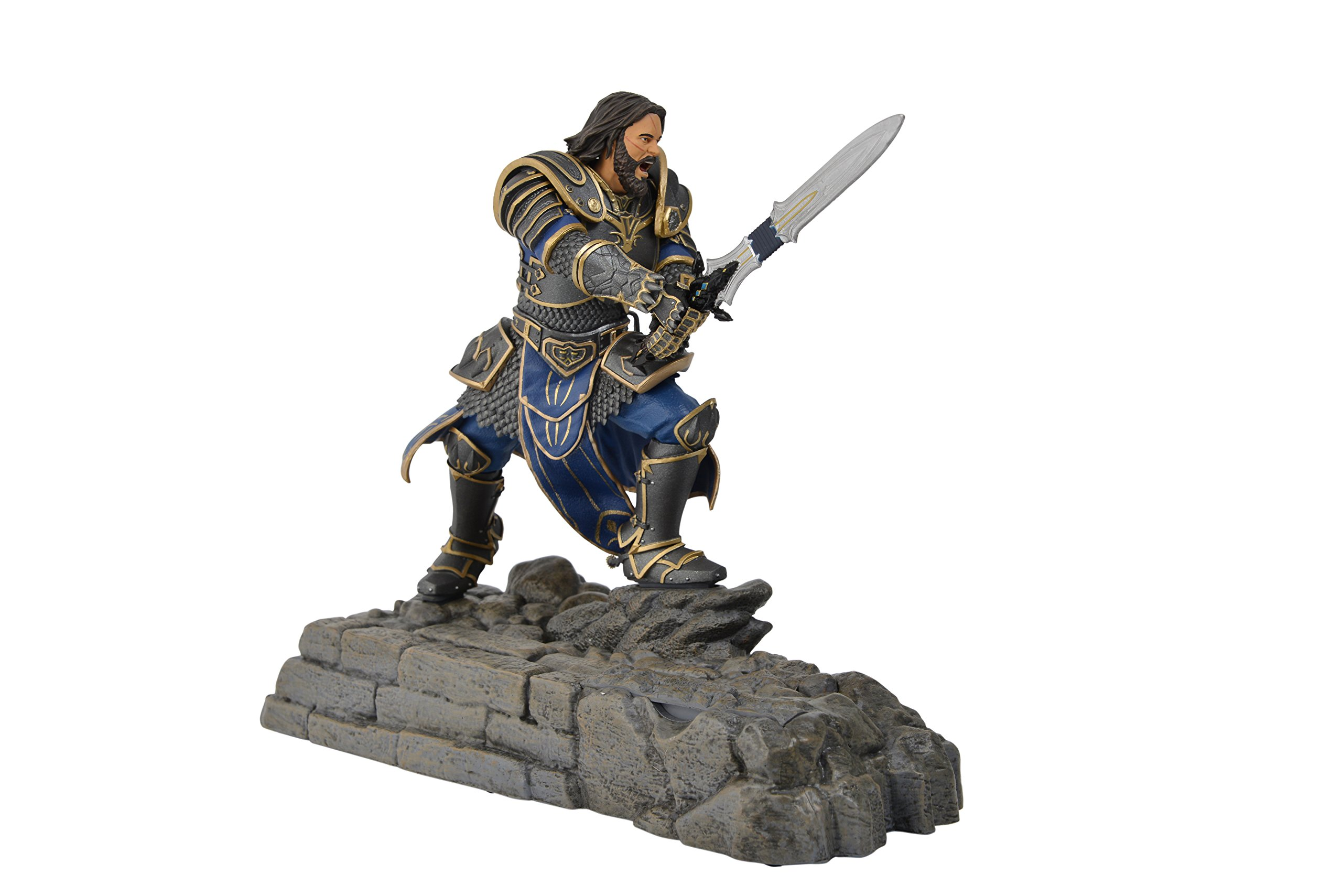 Swordfish Tech Warcraft, Lothar Statue Phone Charging Dock - Warcraft Movie Official Licensed