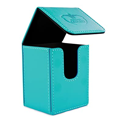 Ultimate Guard 100 Card Flip Leather Deck Case, Blue: Toys & Games