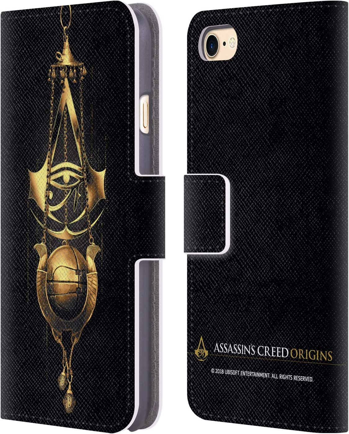 Head Case Designs Officially Licensed Assassin's Creed Piece of Eden Origins Crests Leather Book Wallet Case Cover Compatible with Apple iPhone 7 / iPhone 8 / iPhone SE 2020