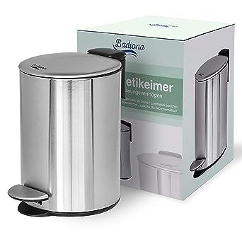 Mülleimer Tretmülleimer Abfalleimer Edelstahl Kosmetikeimer 3 Liter