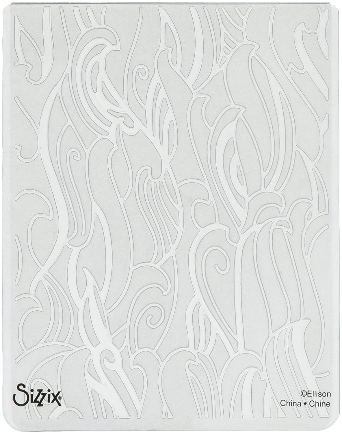 Sizzix 660360 Textured Impressions Embossing Folder Waves by Sharyn Sowell, Red Ellison