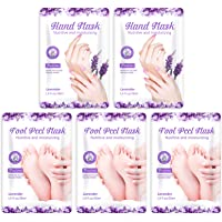Foot Peel Mask- 3 Pairs Baby Soft Foot Mask & 2 Pairs Hand Moisturizing Mask for Dry Skin, Exfoliating Foot Mask, Remove…