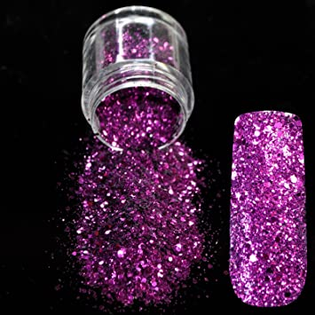 Amazon Dazzling Purple Sequin Dust Gem Nail Glitter