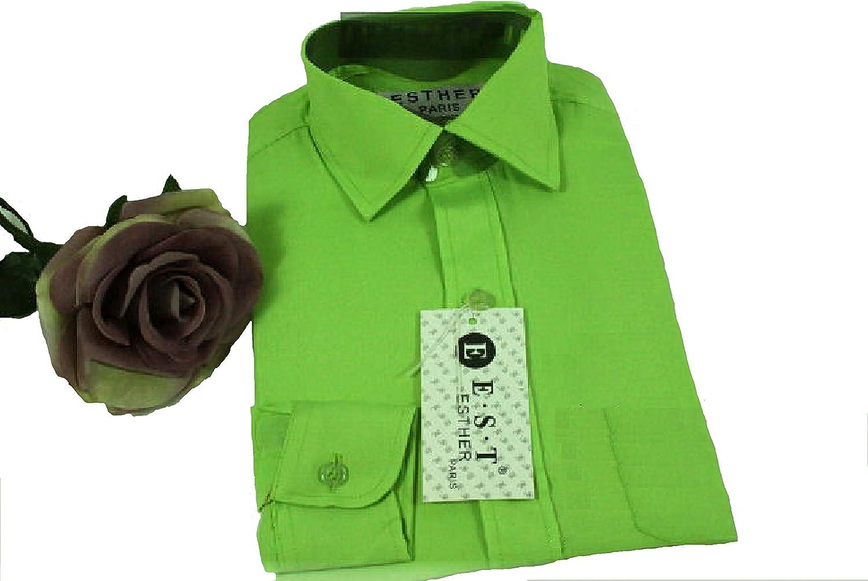 Camisa - Básico - para niño Verde Verde Manzana 32: Amazon.es ...