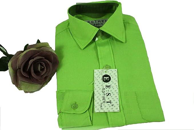 Camisa - Básico - para niño Verde Verde Manzana 32: Amazon.es: Ropa y accesorios