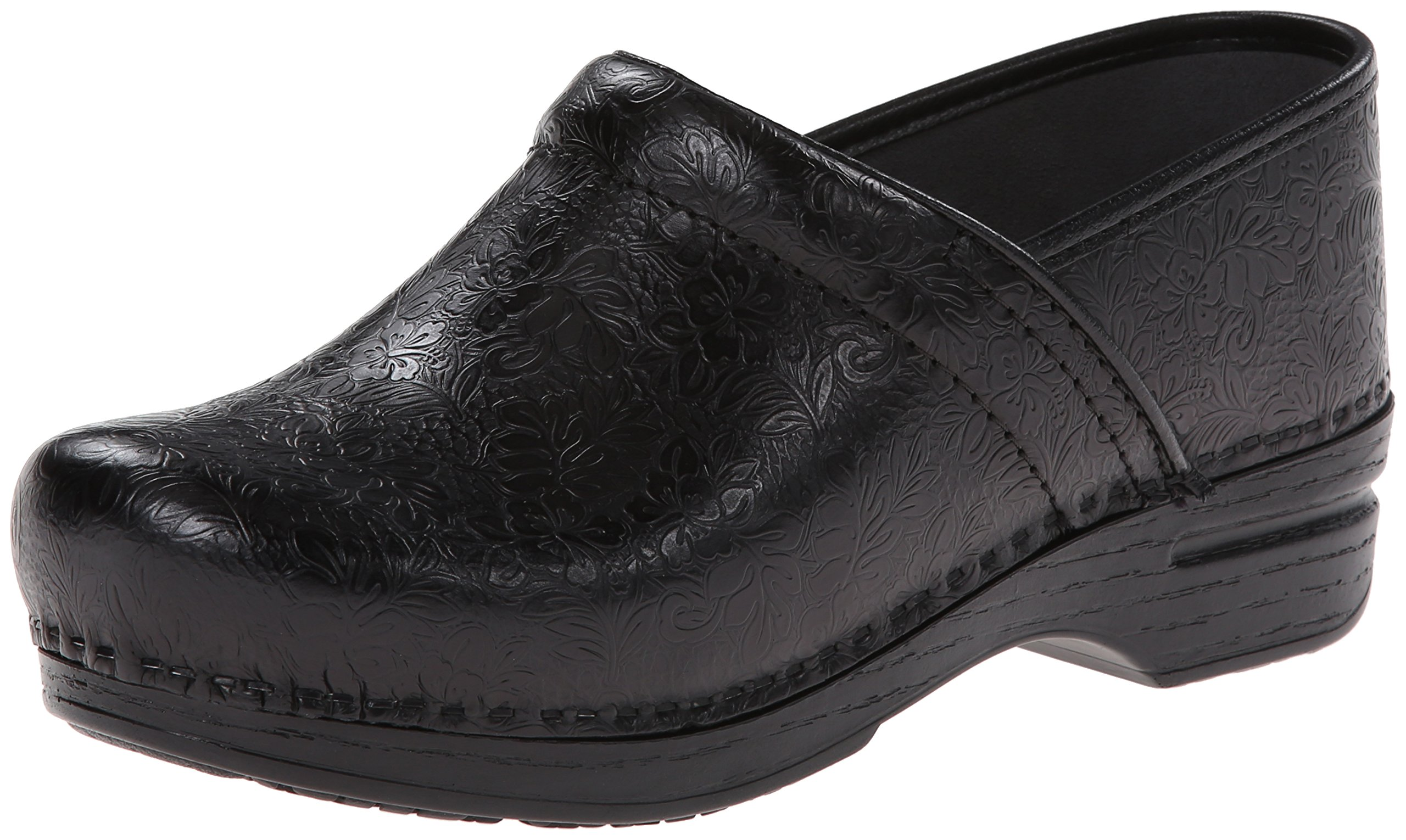 Dansko Women's Pro XP Mule,Black Floral Tooled,39 EU/8.5-9 M US by Dansko (Image #1)