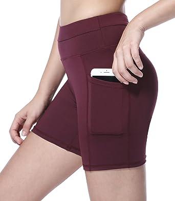 7e8b423e80c40 Sudawave Womens Mesh Shorts Workout Yoga Pants Running with Side Pocket:  Amazon.co.uk: Clothing