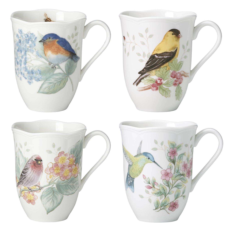 Lenox 882795 Butterfly Meadow Flutter Mugs, Set of 4