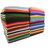 SuperHandwerk 40pcs Feutre Acrylique Tissu Non tissé Doux DIY Artisanat Travail Patchwork Couture Couleur Mélangée 1.4mm Tissu épais (30 * 30 cm)