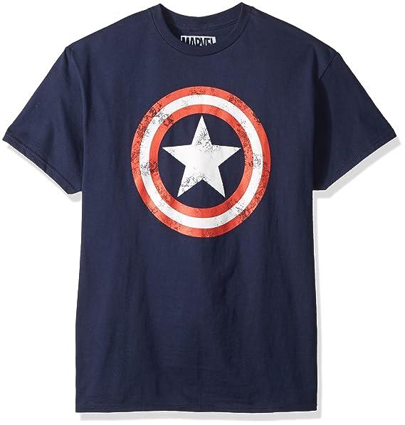 41a3536a Amazon.com: Marvel Mad Engine Captain America Men's Shield T-Shirt: Clothing