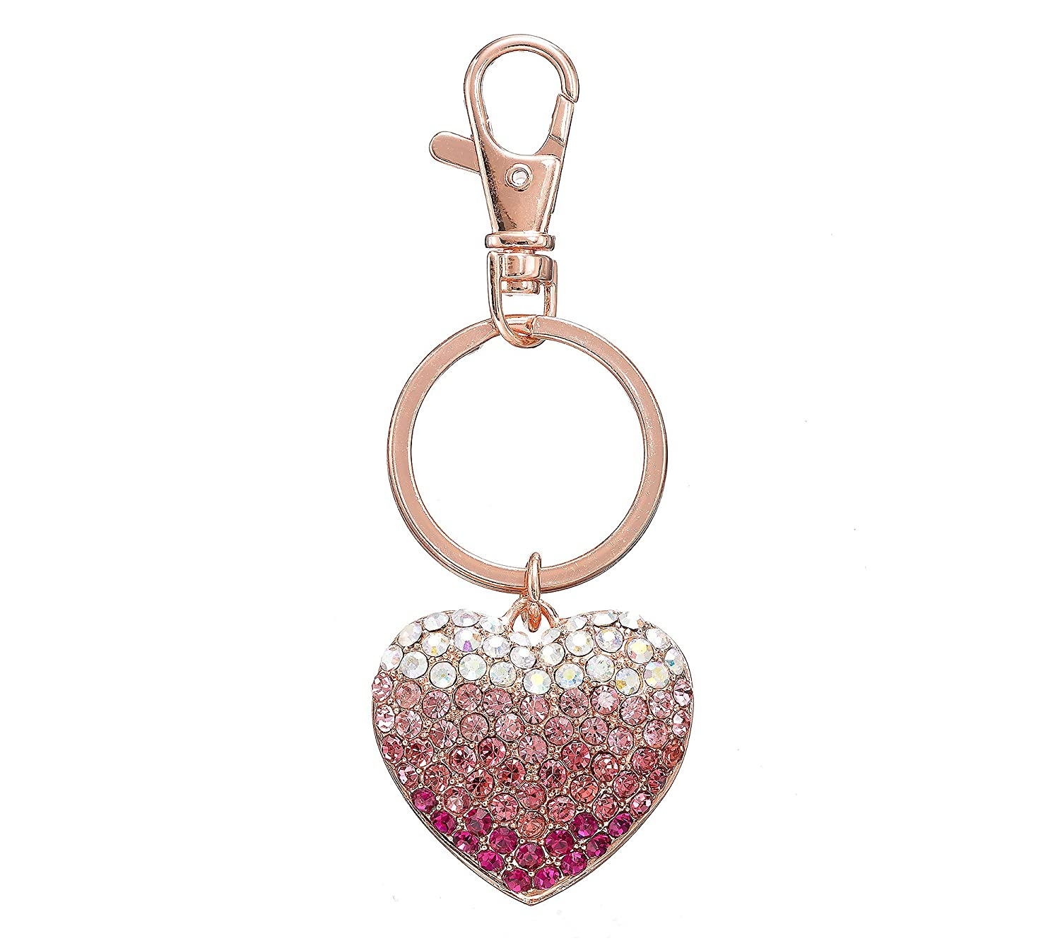 Relativity Rose Goldtone Heart Key Ring