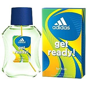 Adidas Fragrance Get Ready for Him Colognes, 1.7 Fluid Ounce