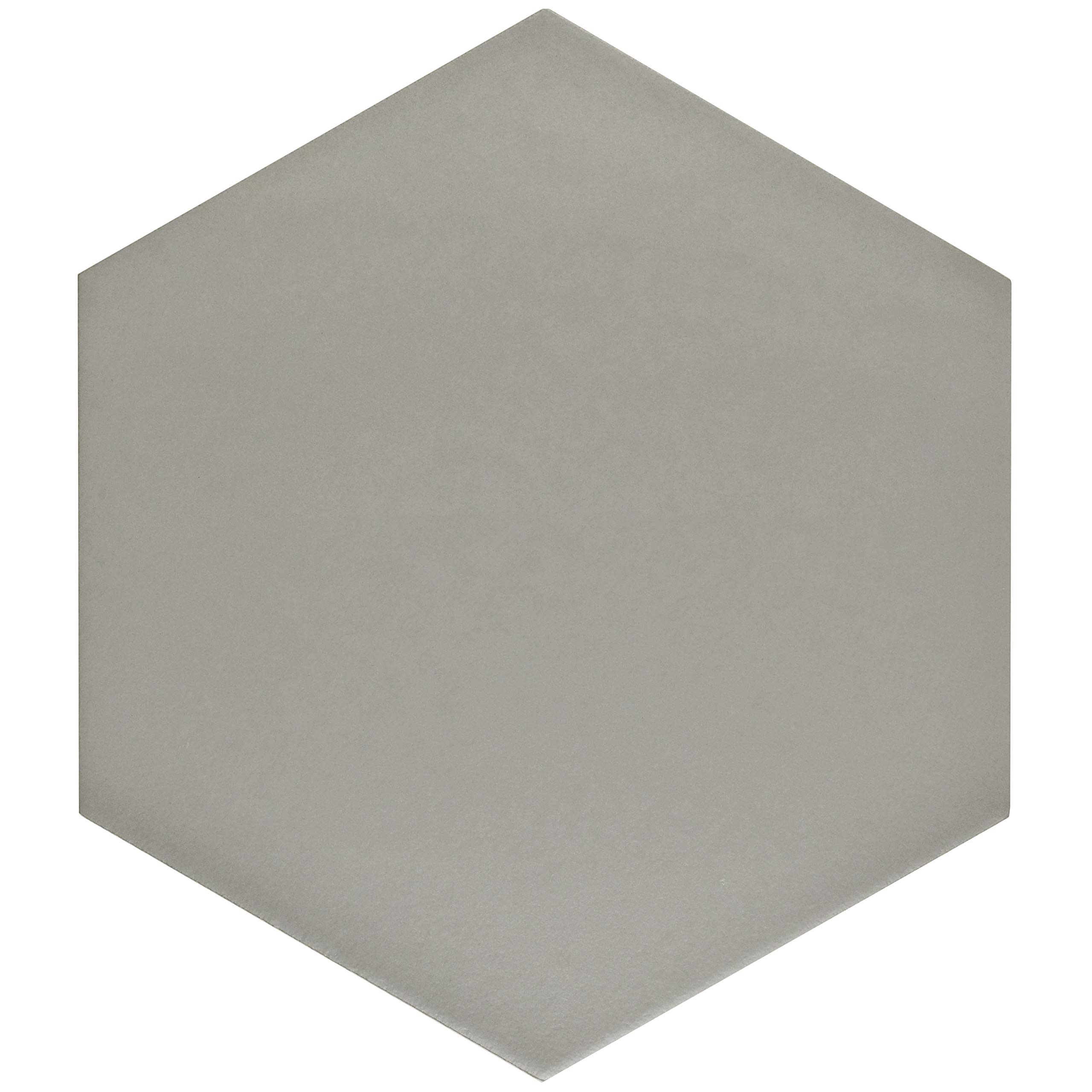 SomerTile FCD10STX Abrique Hex Porcelain Floor and Wall, 8.63'' x 9.88'', Silver Tile 8.625'' x 9.875'' 25 Piece