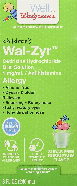 amazon com walgreens wal zyr children u0027s allergy liquid sugar free