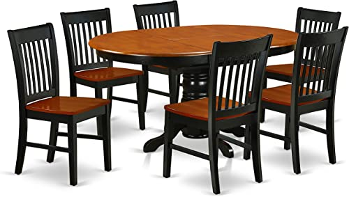 KENO7-BCH-W 7Pc Oval 42 60 Family Table