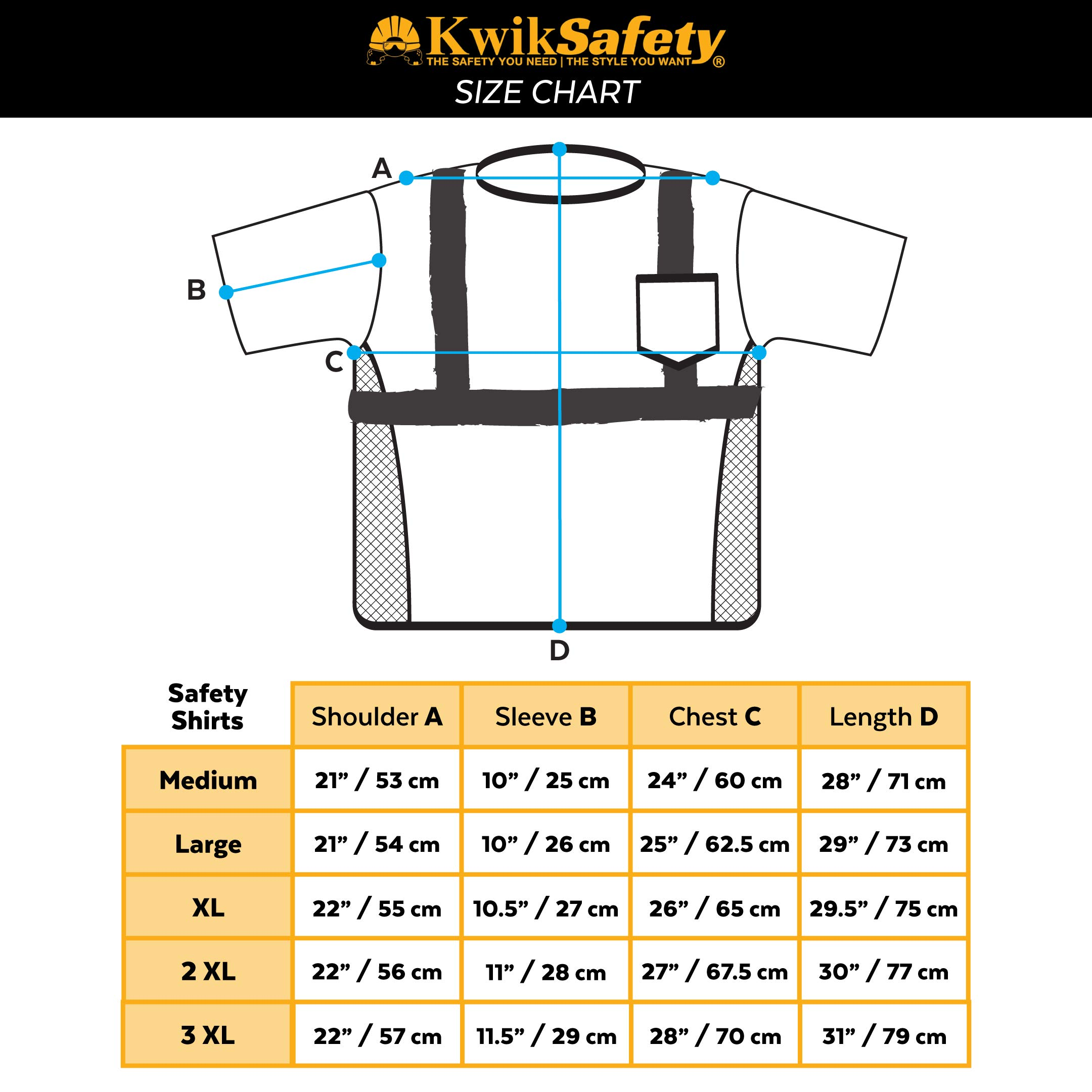 KwikSafety (Charlotte, NC) UNCLE WILLY'S WALL (Chest Pocket) Class 2 ANSI High Visibility Safety Shirt Fishbone Reflective Tape Construction Hi Vis Clothing Men Short Sleeve Camo Yellow Black XX-Large by KwikSafety (Image #8)