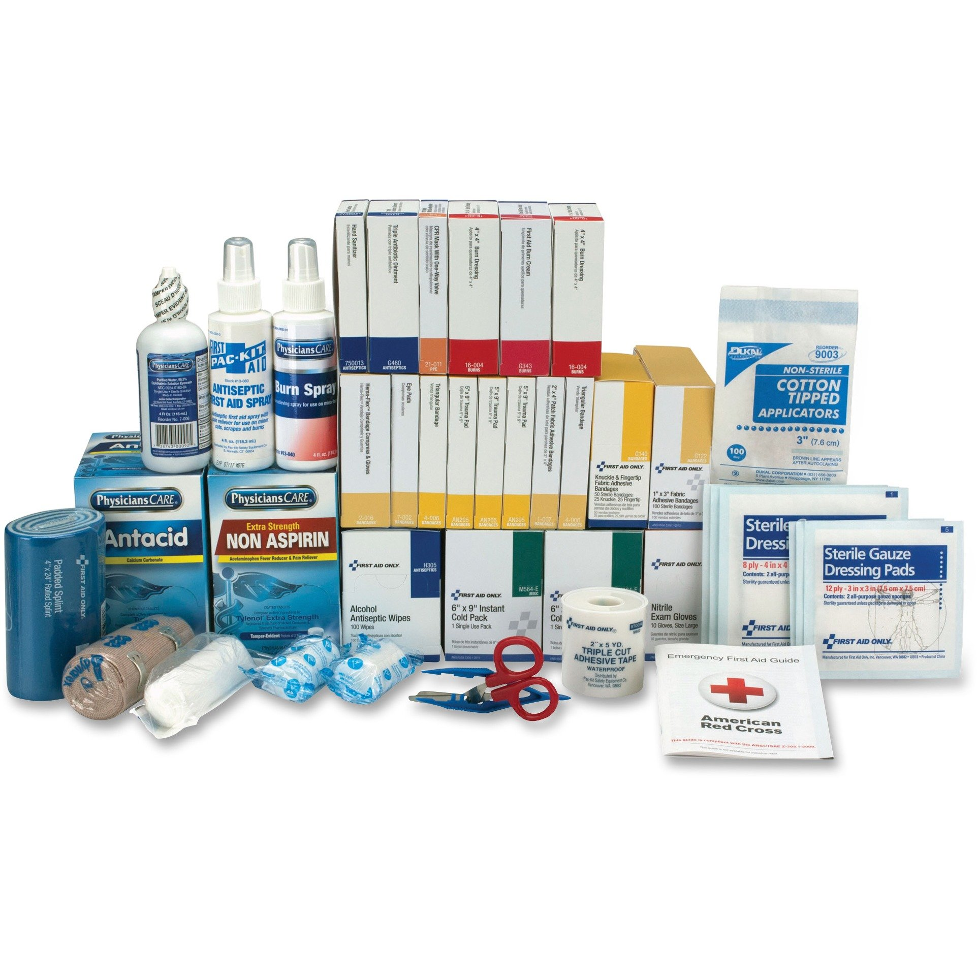 First Aid Only 90623 3 Shelf ANSI Class B+ Refill with Medications, 675 Pieces
