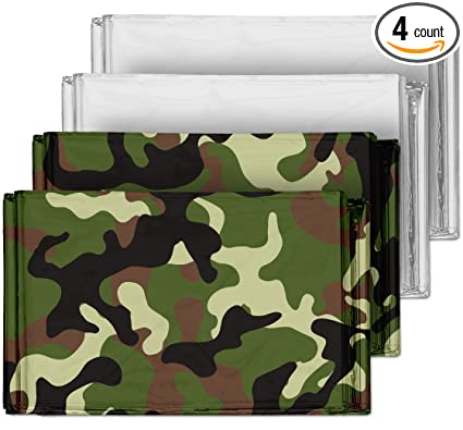 Amazon camouflage emergency mylar blankets 4 pack perfect camouflage emergency mylar blankets 4 pack perfect for outdoor camping hiking publicscrutiny Gallery