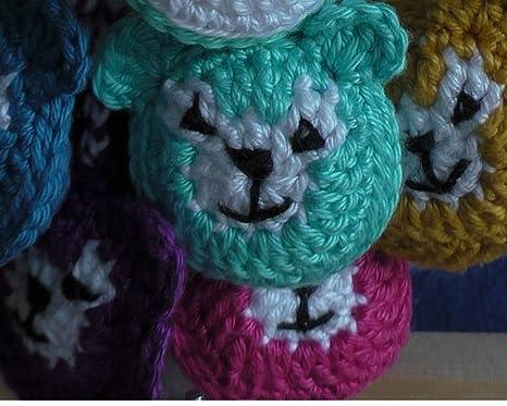 Oso baumler iPhone colgante bolsa colgante llavero Handmade nuevo verde animales ganchillo Flores ganchillo Manualidades Handmade