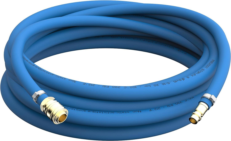 3m Tuyau flexible de peinture /Ø 8mm Jeu de tuyau dair comprim/é antistatique Raccord et buse enfichable en laiton jusqu/à 50m choix 3m m/ètre