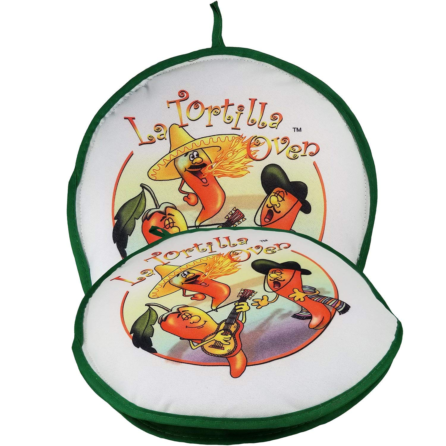 10'' Tortilla Warmer Keeps Tortillas FRESH AND WARM FOR OVER 1 HOUR! Singing peppers tortilla pouch keeps corn & flour tortillas warm from the skillet, pan, grill or microwave!