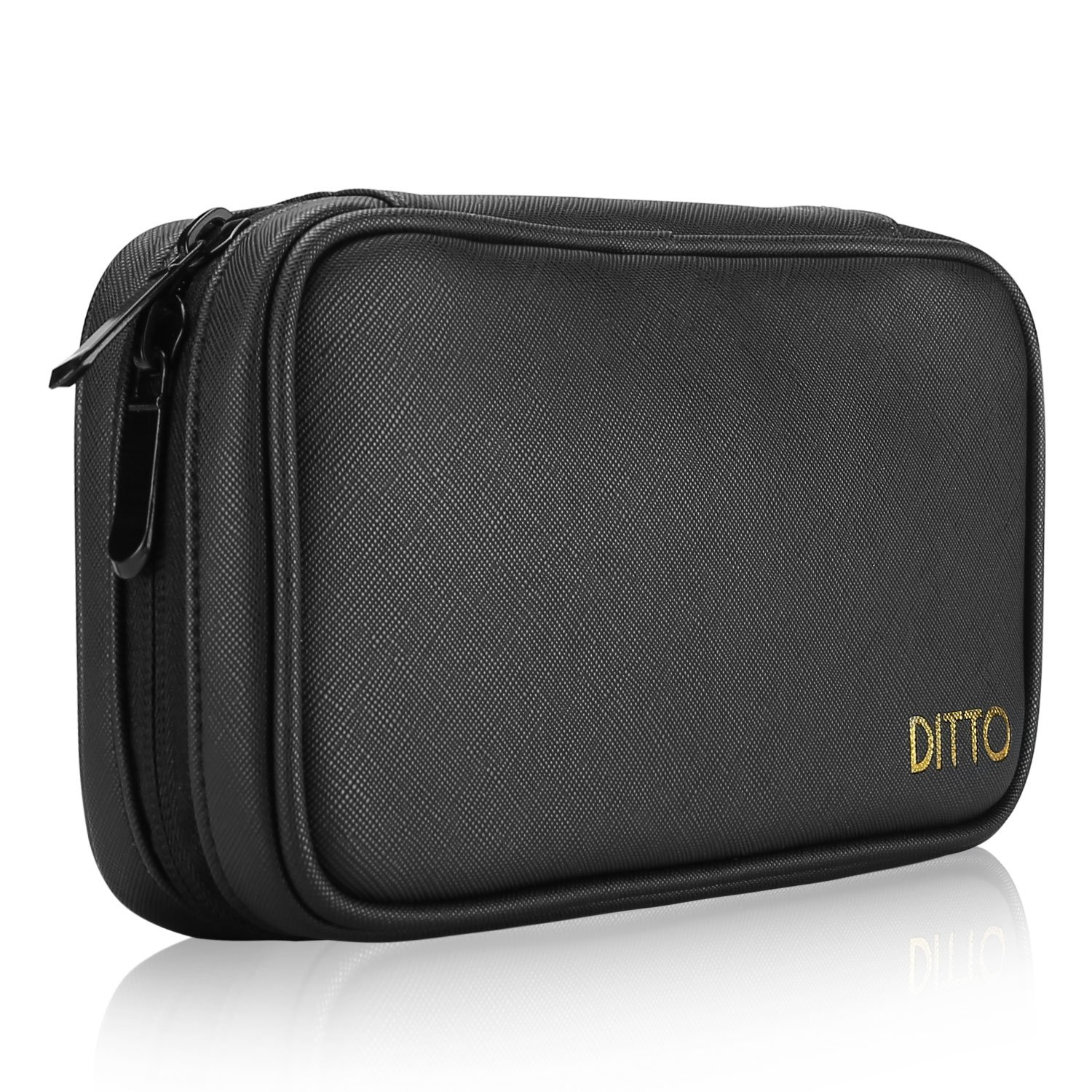Ditto Large Pencil Case, Stationery Pouch Multi-Functional Pencil Pouch Holder Large Capacity Pen Bag Stationery Case with Mesh Pockets for Pen Markers Eraser Texas Instruments TI-84 / Plus -Black