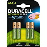 Duracell Recharge Ultra Type AAA Batteries 850 Mah, Pack of 4