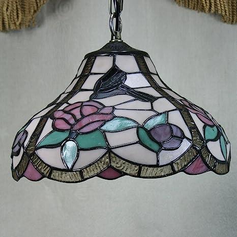 12-Inch Vintage Colibrí con diseño de rosas Tiffany lámpara ...