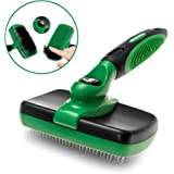 K9KONNECTION Self Cleaning Slicker Brush for Dogs and Cats - Professional Pet Grooming Tool Removes Dead Undercoat, Tangled Knots & Matted Fur - Safe Stainless Bristles - Best for Large & Small Pets