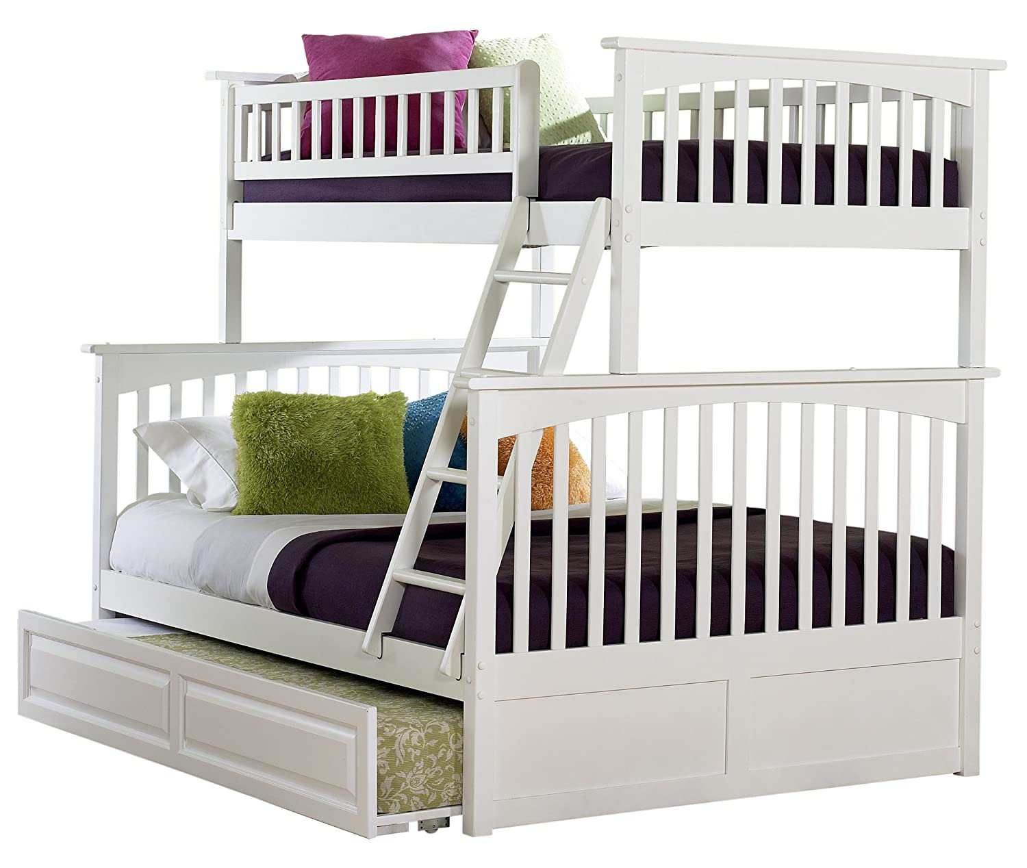 Amazoncom Columbia Bunk Bed with Trundle Bed Twin Over Full